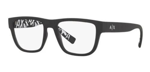 Armação oculos grau armani exchange ax3062 8029 54 preto
