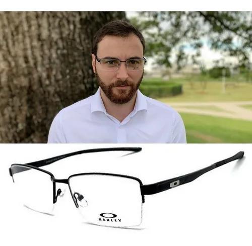 Armação oculos grau masculino ox5088 aluminiun original