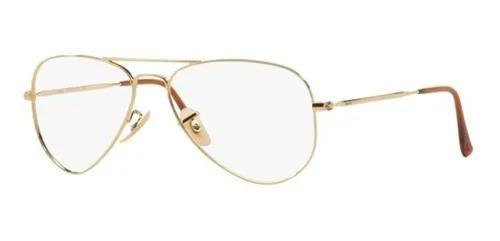 Armação oculos grau ray ban aviador rb6049 2500 55mm
