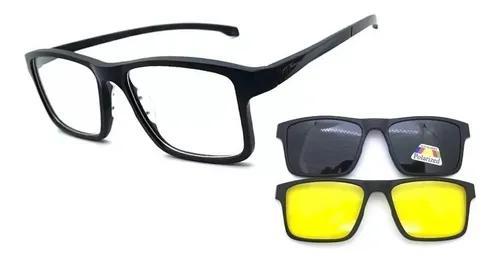 Armação óculos grau solar original m.thomaz mt165 clip on