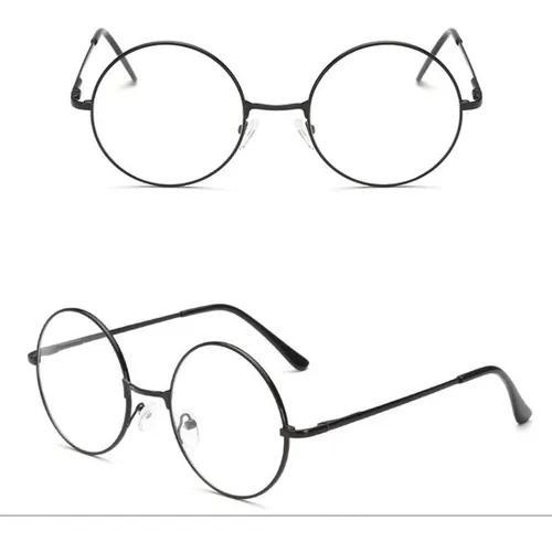 Armação óculos redonda vintage unissex retrô lente