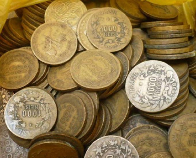 Compra e venda de moedas antigas só acima de 10 quilos r$30