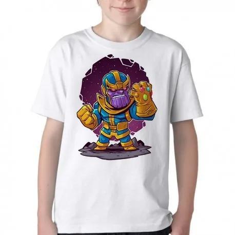 Camiseta blusa infantil criança thanos guerra infinita geek