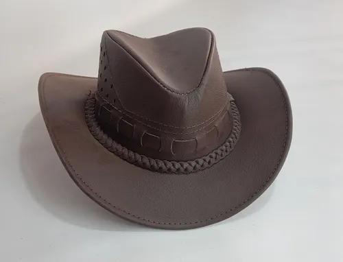 Chapéu infantil couro legitimo country texano bebê