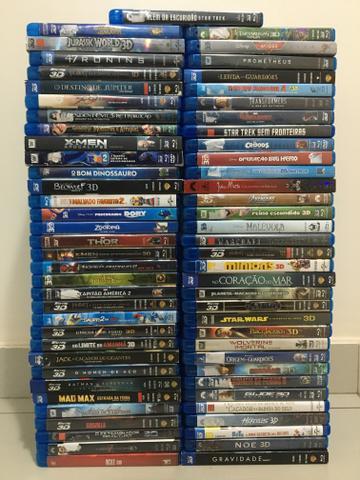 Coleção 66 filmes bluray 3d (ac. cartão)