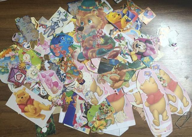 Coleção adesivos + recortes + papéis de carta