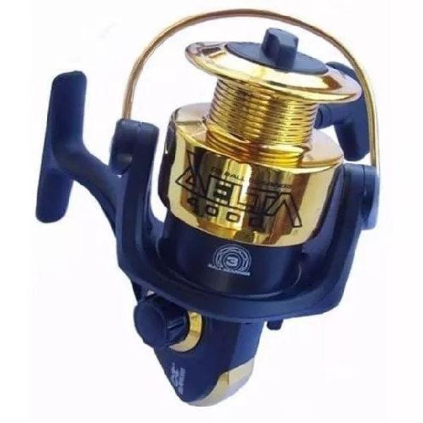 Conjunto 01 vara de pescar telescópica e 01 molinete,