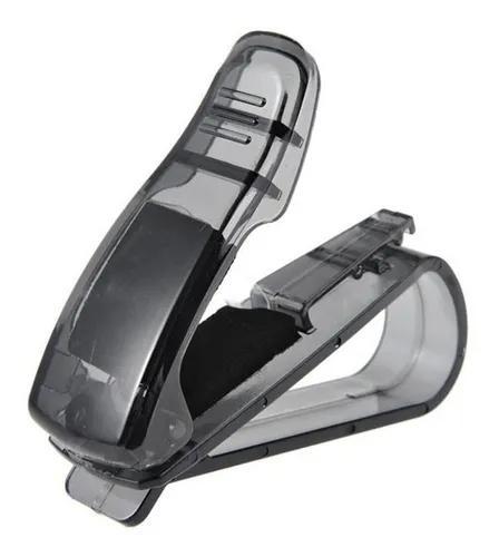 Kit 2 un porta óculos veicular quebra sol carro suporte