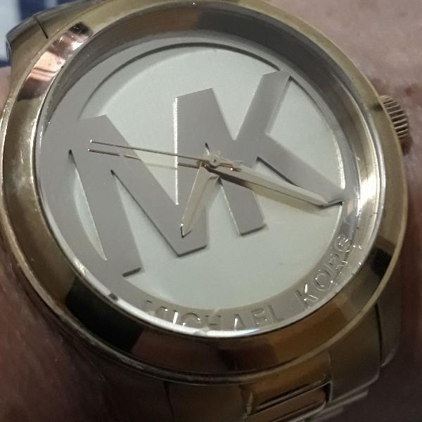 Lindo relógio dourado michael kors original.