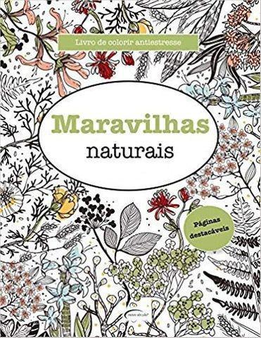Livro de colorir antiestresse - maravilhas naturais