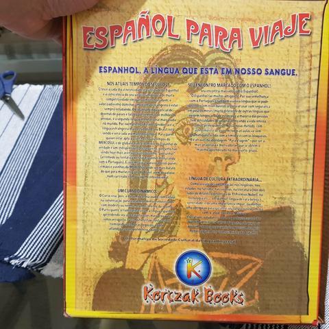 Livro e cd curso de espanhol para viagem