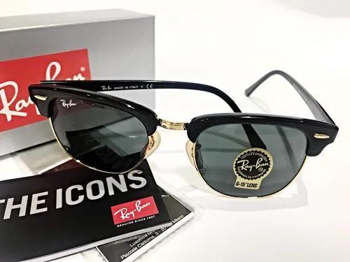 Oculos De Sol Rb3016 Clubmaster Preto Masculino Unissex