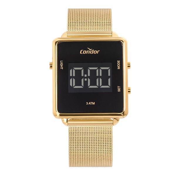 Relógio condor feminino digital trendy dourado
