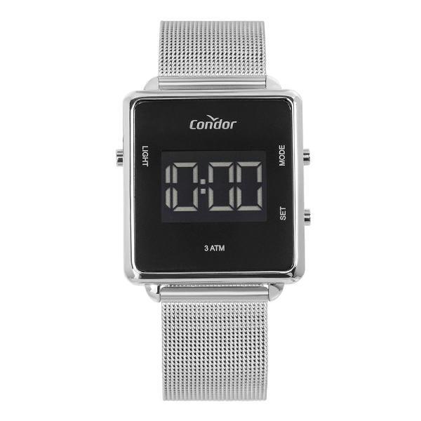 Relógio condor feminino digital trendy prata cobjf156ae/3k
