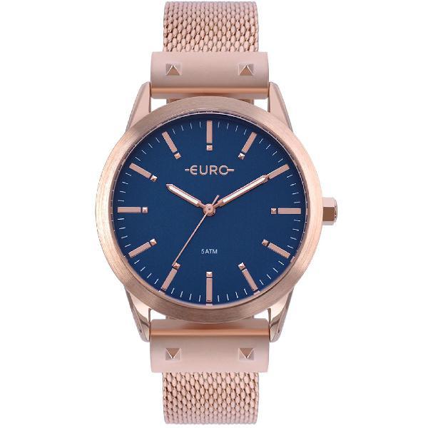 Relógio euro feminino metal glam rosé - eu2035yom/4a