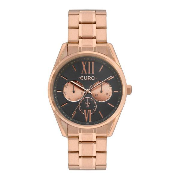 Relógio euro multi glow feminino rosé eu6p79ae/4c