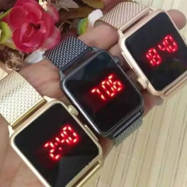 Relógio led watch unissex feminino
