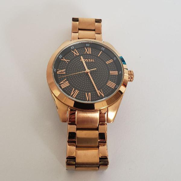 Relogio fossil rose gold