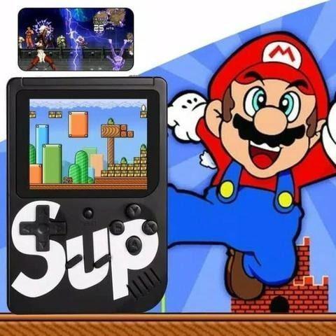 Vídeo game portátil novo com 400 jogos nintendo suporte