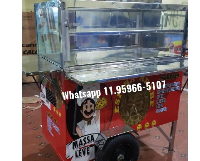 carrinho de salgado coxinha esfiha arabe
