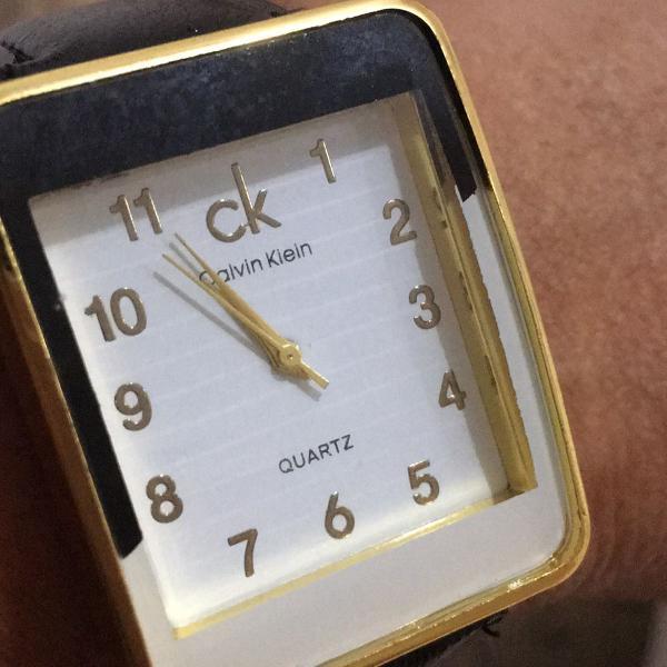 relógio calvin klain ck mentalizado com pulseira em couro