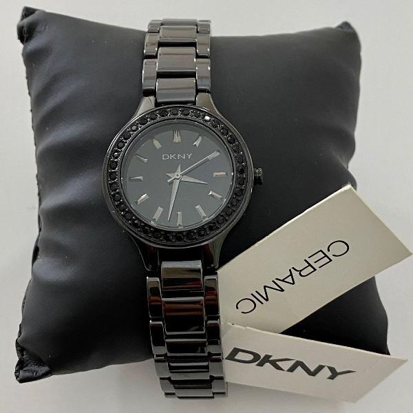 Relógio cerâmica dkny ny 8142
