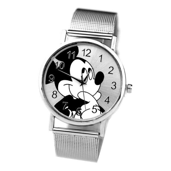 Relógio de pulso prata analógico mickey mouse disney
