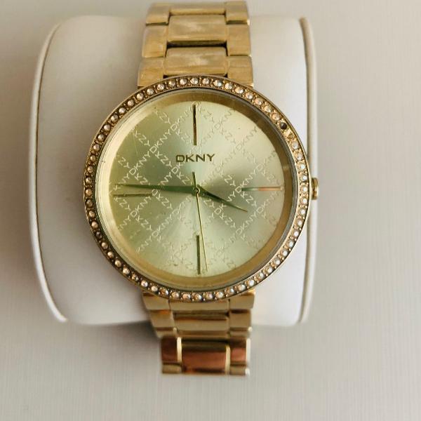 Relógio dkny dourado - original
