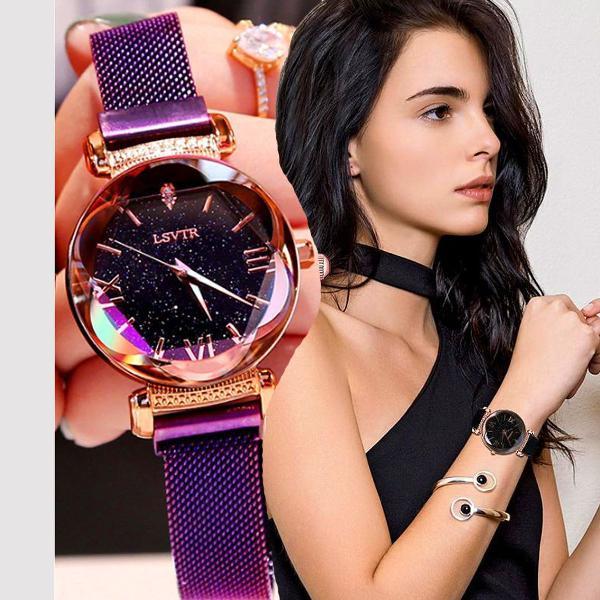Relógio feminino céu estrelado lançamento 2019