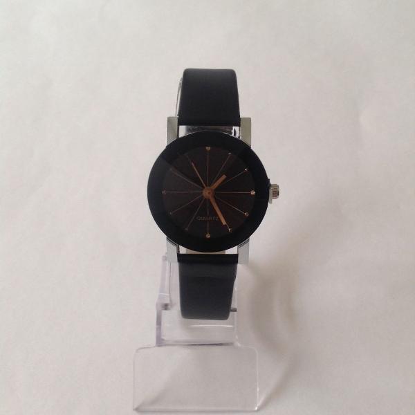 Relógio feminino preto quartzo