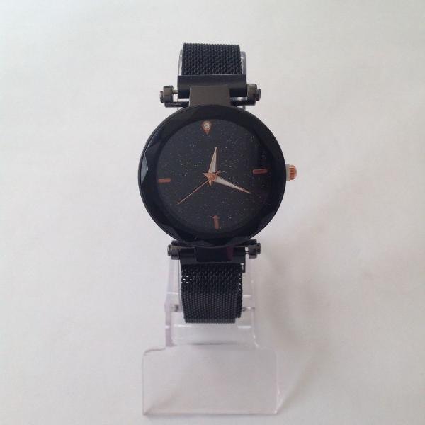 Relógio feminino pulseira de ímã