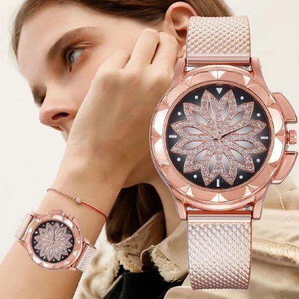 Relógio flor feminino