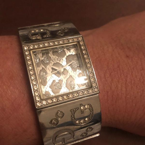 Relógio guess pulseira prata