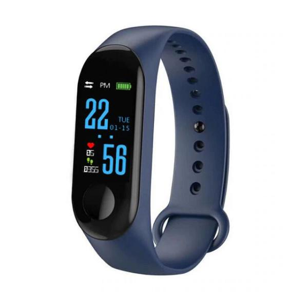 Relógio inteligente smart azul bluetooth