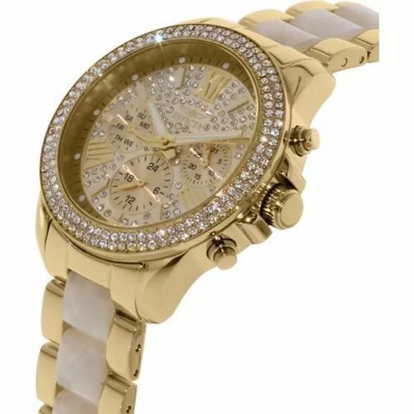 Relógio invicta angel 20511 feminino banhado ouro 18k