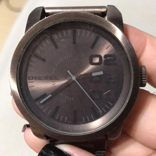 Relógio masculino diesel marrom dz-1480