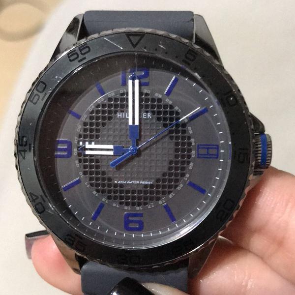 Relógio masculino tommy hilfiger th1761341205 azul