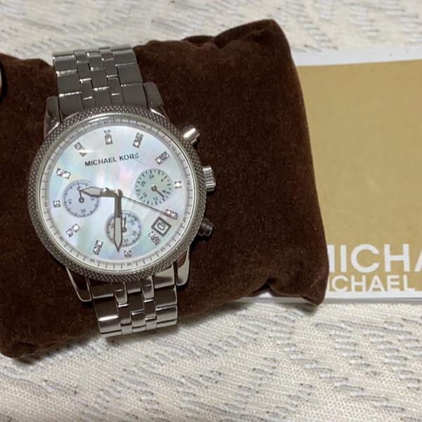 Relógio michael kors prata