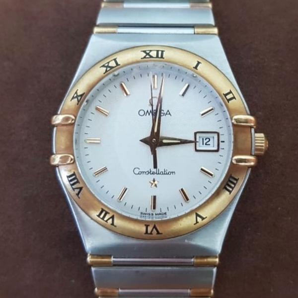 Relógio omega constelation original ouro e aço