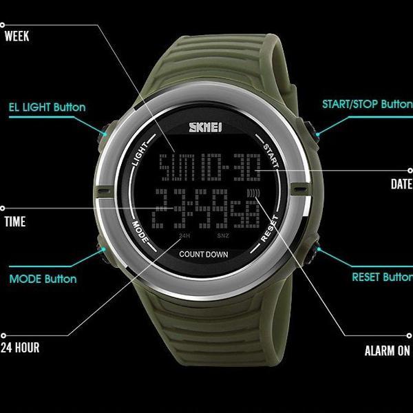 Relógio original masculino pulso digital feminino esportivo