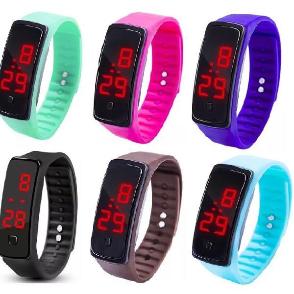 Relógio pulso digital pulseira silicone unissex sport