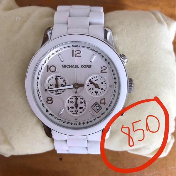 Relógio runway original importado borracha branca com