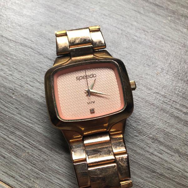 Relógio speedo original analógico dourado