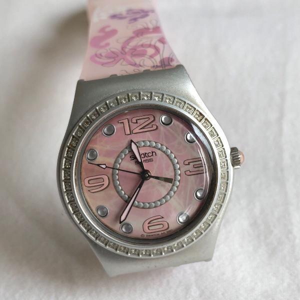 Relógio swatch hazy belle rosa