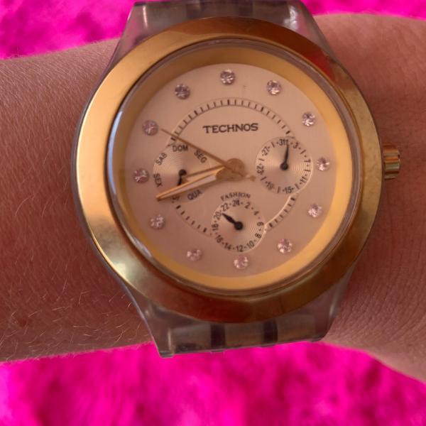 Relógio technos original dourado