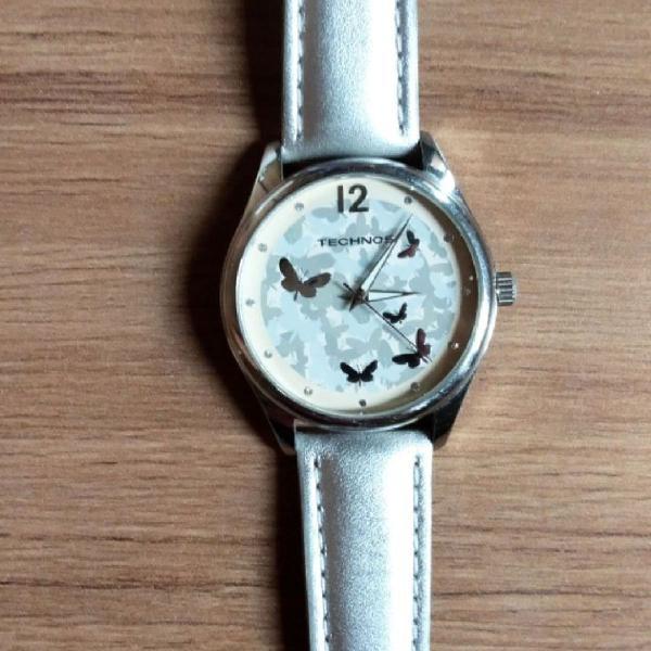 Relógio technos original prata