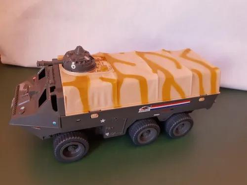 Brinquedo antigo véiculo comandos ação anfibio s/vidro