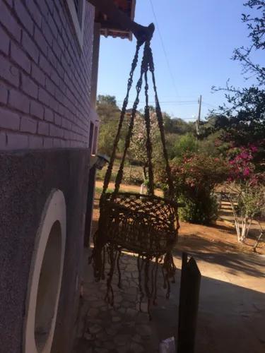 Cadeira balanço de teto sisal natural