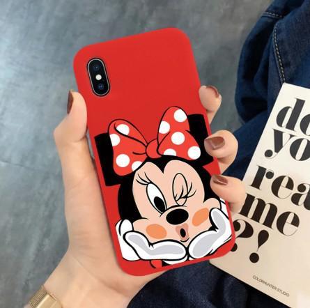 Capa Capinha Case Minnie iPhone 7/8 / X + Pelicula de Vidro
