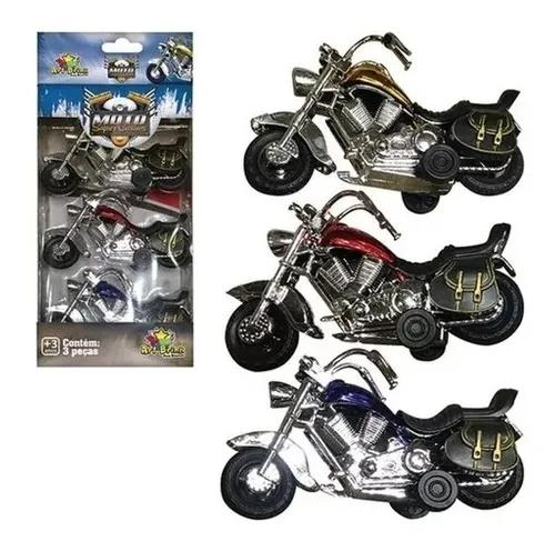 Kit brinquedo antigo 3 motos super custom oferta!!!